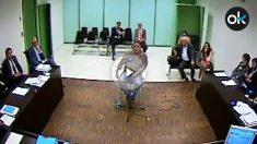Manuel Gutiérrez Carbajo, durante el interrogatorio dirigido por el juez Joaquín Aguirre.