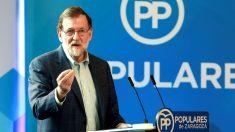 Mariano Rajoy en un acto este sábado en Zaragoza (Foto: Efe).
