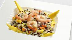 Receta de ensalada de arroz y gambas.