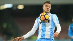 Milinkovic-Savic, en un partido con la Lazio. (AFP)