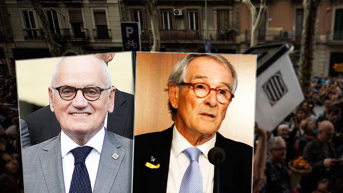Carles Vilarrubí, imputado en la trama del 3%, y el ex alcalde de Barcelona Xavier Trias, que ocultaba una cuenta en Suiza.