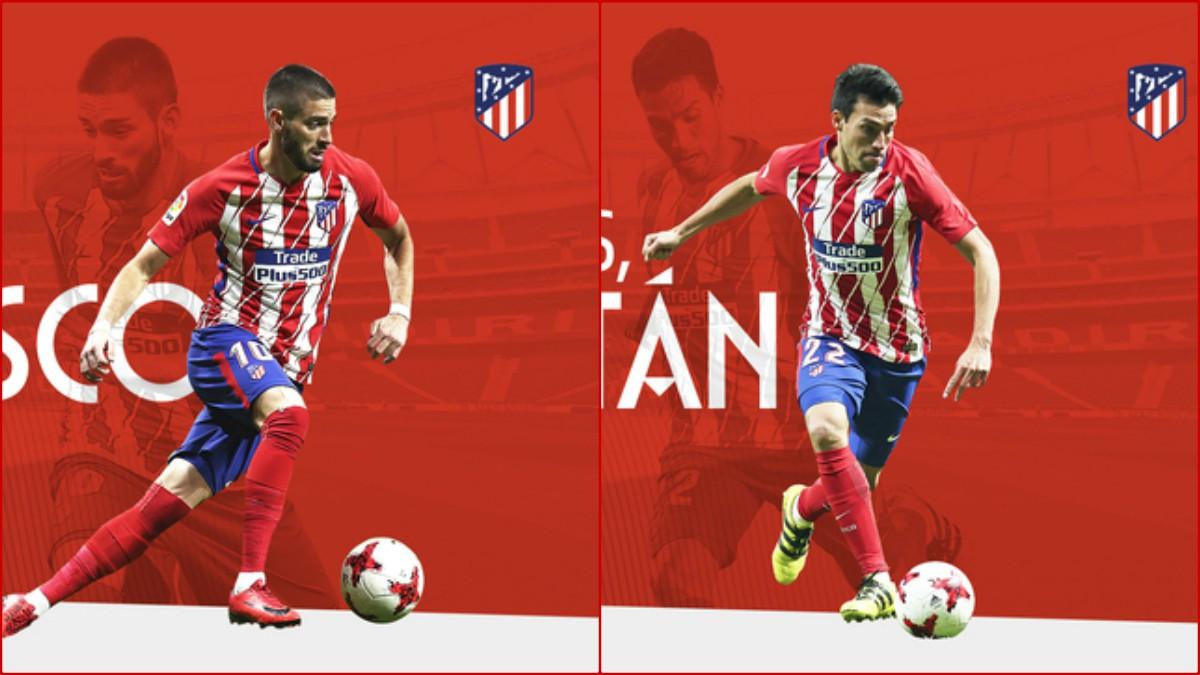 Carrasco y Gaitán dicen adiós al Atleti. (atleticodemadrid.com)