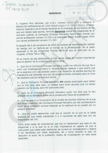 Su ex jefe acusa a Martín Blas de informes falsos, destrucción de pruebas y conducta delictiva