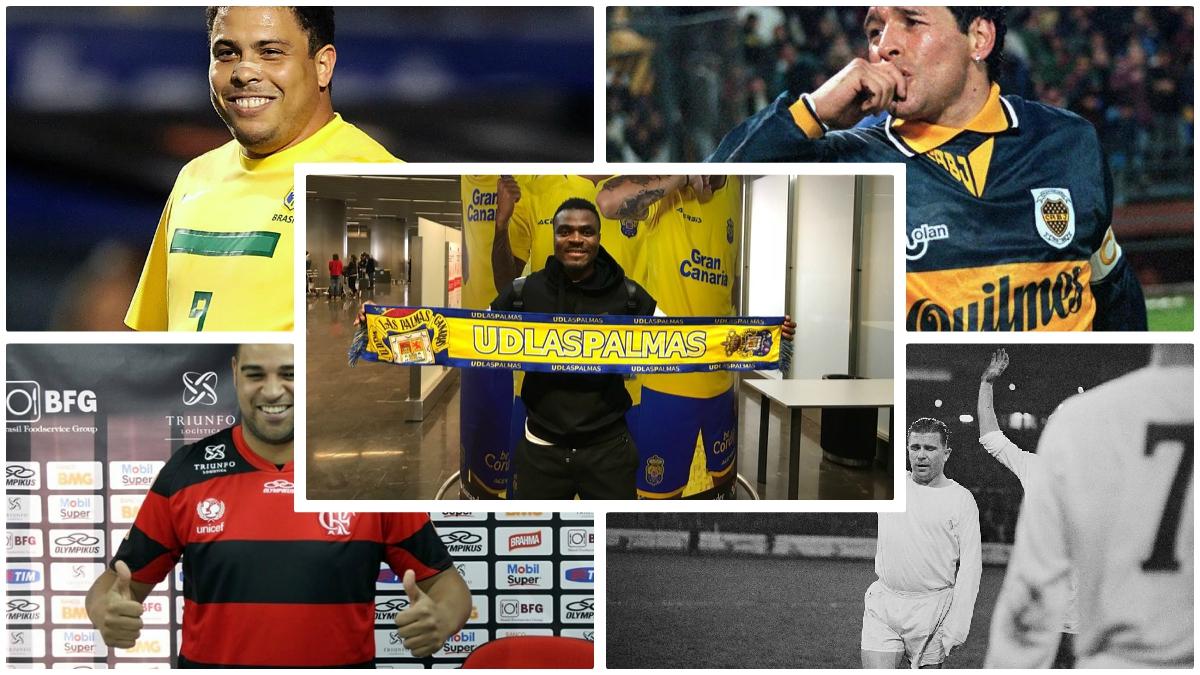 Emenike y los otros casos de futbolistas gordos en la historia. (Fotos: Getty Images/AFP/Twitter…)