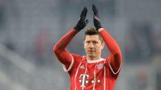 Lewandowski durante un partido del Bayern (Getty)