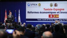 """Mariano Rajoy clausura en Túnez un encuentro empresarial entre ambos países apelando al """"éxito"""" de las reformas en España. (Foto: Moncloa)"""