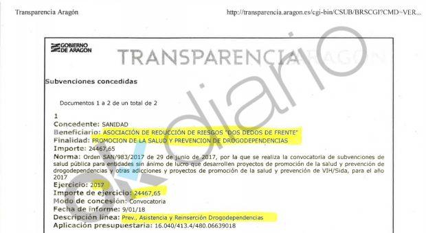 """El PSOE de Lambán regó con 39.000 euros al autor del folleto que anima a drogarse """"con seguridad"""""""