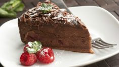 Receta de tarta de chocolate casera.