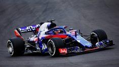 El nuevo STR13 de Toro Rosso-Honda, en acción