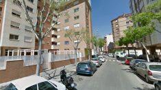 Calle de Amalio Gimeno, en Castellón, donde se produjo el suceso.
