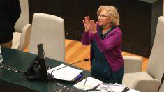 La alcaldesa en el Pleno. (Foto: Madrid)