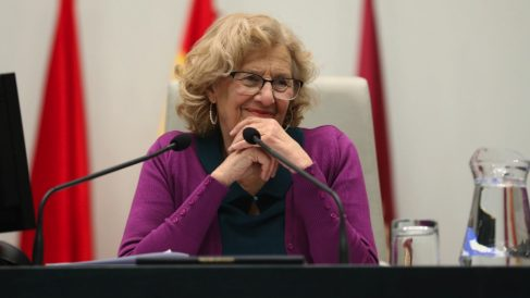 La alcaldesa en un Pleno. (Foto: Madrid)