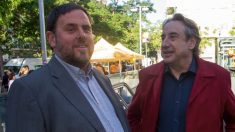 Juanjo Puigcorbé con Oriol Junqueras en una imagen de archivo.