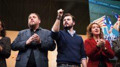 Oriol Junqueras, Gabriel Rufián y Ester Capella. (Foto: ERC)