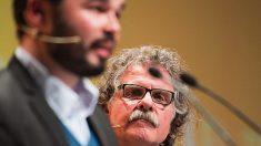 Gabriel Rufián y Joan Tardà, portavoces de ERC en el Congreso.