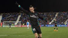 Bale celebrando un gol esta temporada (Getty)