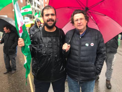 El presidente de la ANA, Pedro I. Altamirano junto a Oscar Reina 'El Pancetas' (Foto: Twitter)