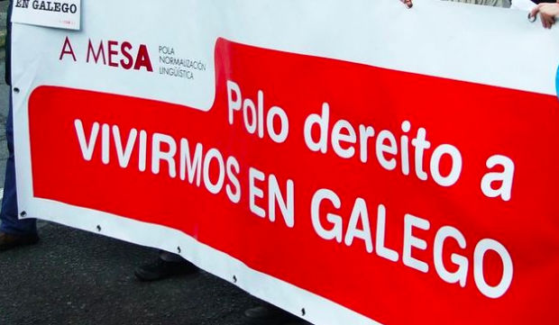 Manifestación de la Mesa Por la Normalización Lingüística en Galicia 8Foto: Facebook)