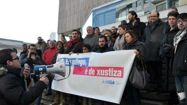 Protesta de la Mesa Por la Normalización Lingüística en Galicia
