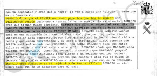 Conversación telefónica intervenida por la UCO a Ignacio González en el caso Lezo.