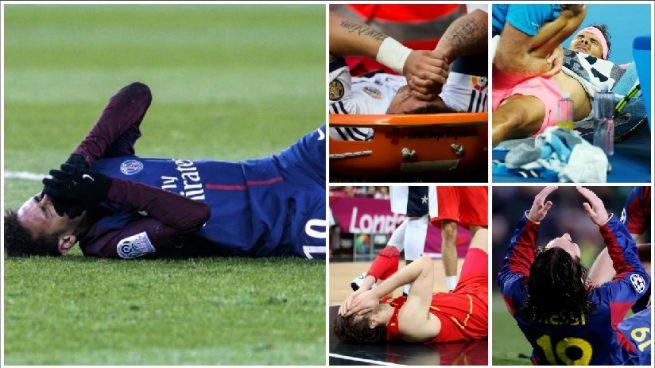 Neymar sufre la lesión de las estrellas