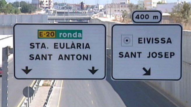 Señalizaciones en catalán y sin el castellano en las Islas Baleares