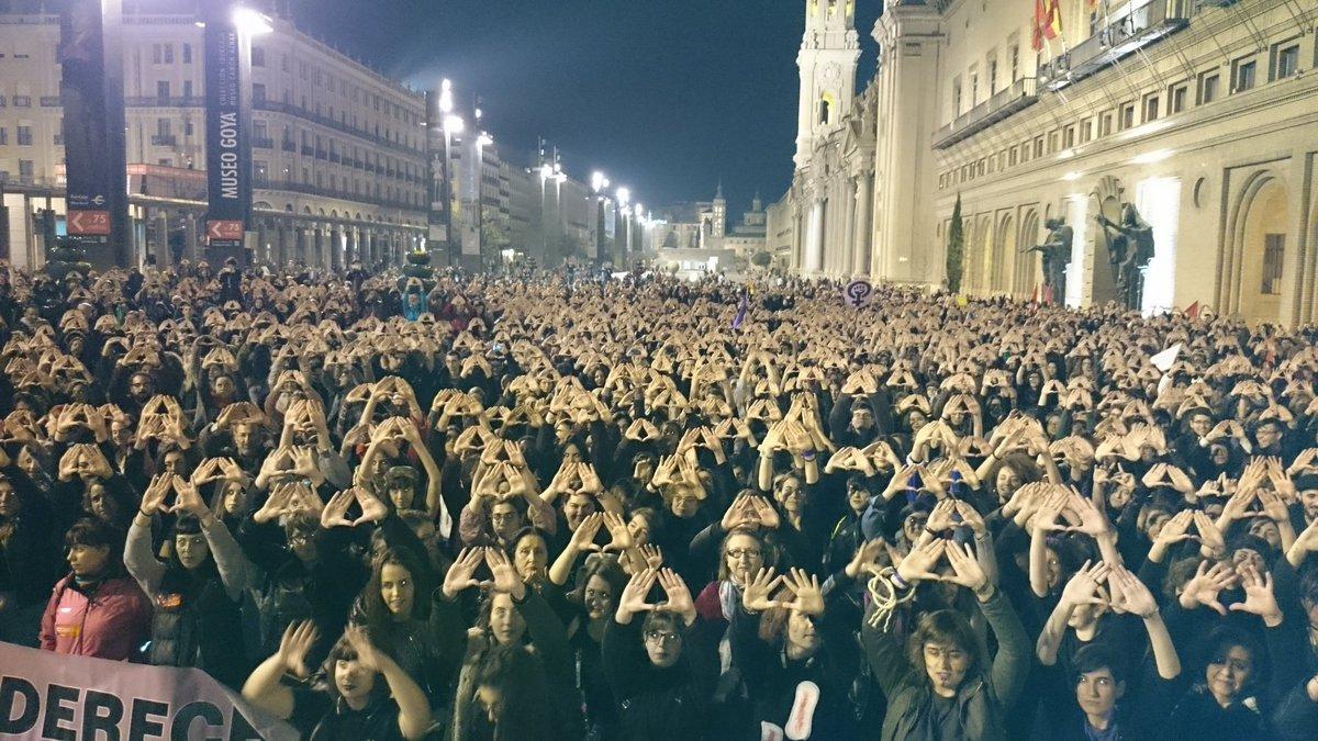 Manifestación feminista en Zaragoza.