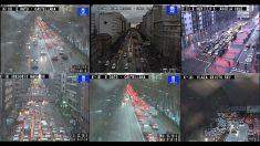 Colapso en los túneles de Madrid este jueves por la tarde.