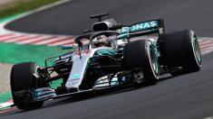 Lewis Hamilton con el Mercedes W09