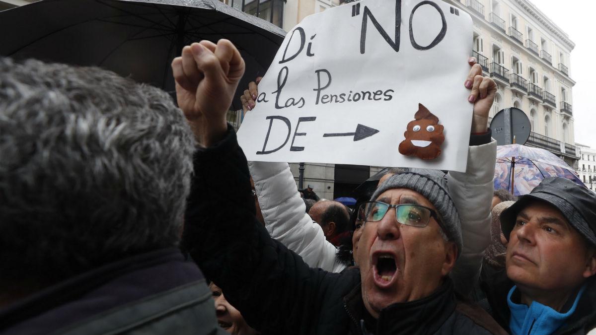 Manifestación de pensionistas