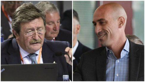 Larrea y Rubiales son los candidatos a suceder a Ángel María Villar al frente de la Federación de Fútbol.