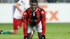 Saint-Maximin durante un partido con el Niza. (AFP)
