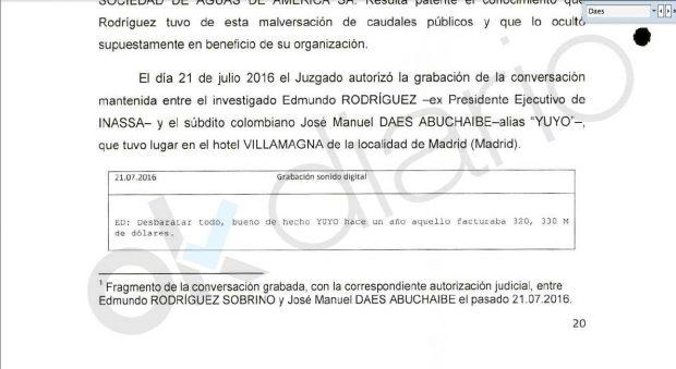 El gerente de González en Inassa acusó al gobierno de Cifuentes de pactar con los socios colombianos para echarlo