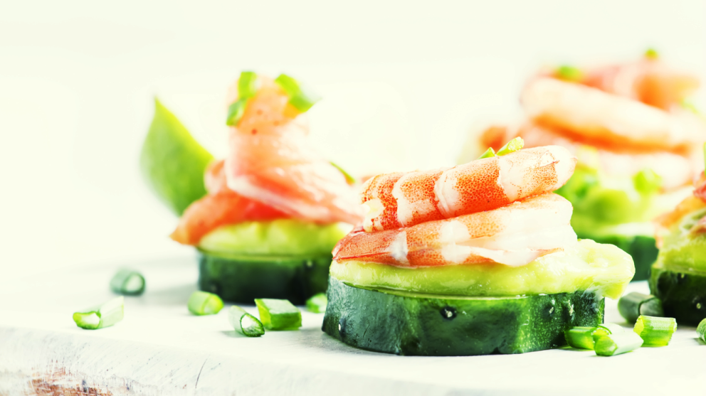 Receta de ensalada japonesa de pepino y gambas