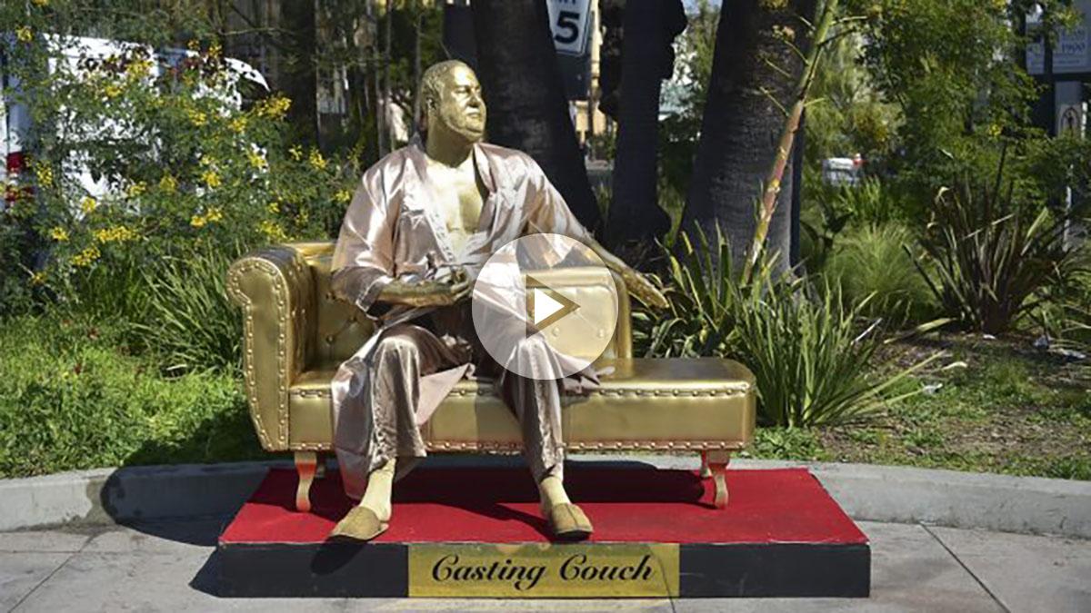 Escultura de Harvey Weinstein.