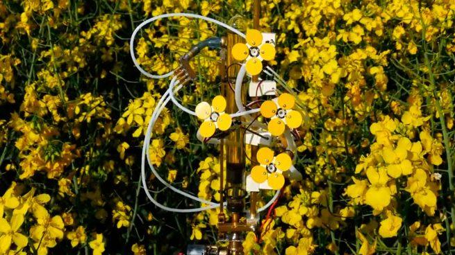 flores robóticas