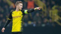 Marco Reus, en un partido con el Dortmund. (AFP)