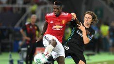 Pogba, durante la pasada Supercopa de Europa ante el Real Madrid. (AFP)
