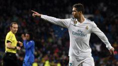 Cristiano celebra su gol ante el Getafe. (AFP)