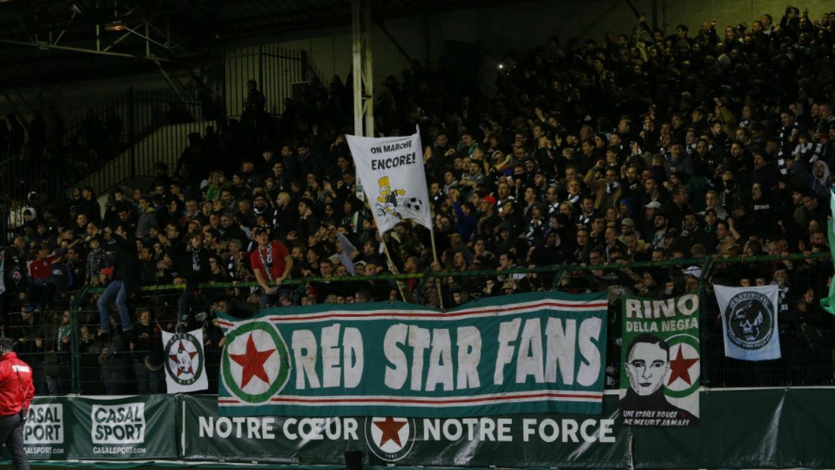 Los aficionados del Red Star, durante un encuentro. (redstar.fr)