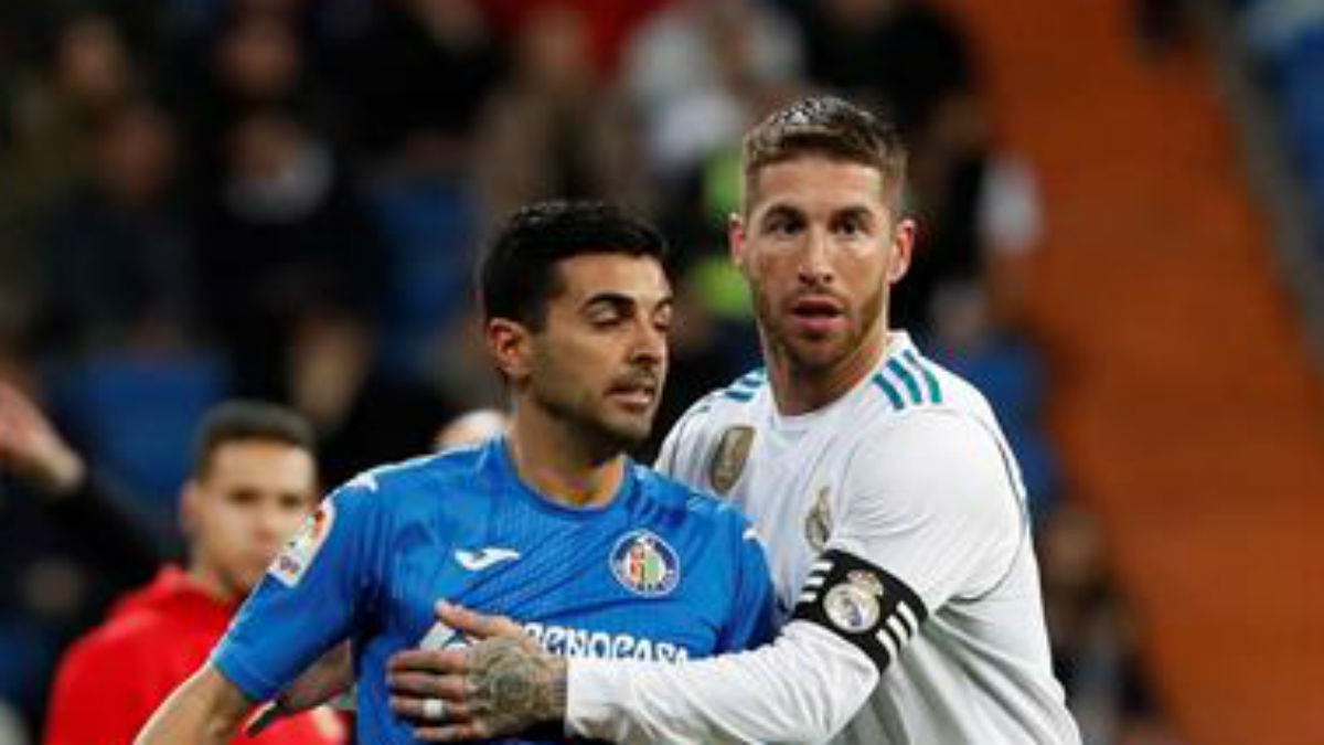Ramos, durante el Real Madrid-Getafe (EFE).