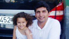 Mari Luz y su padre, Juan José Cortes, poco tiempo antes de la desaparición de la niña.
