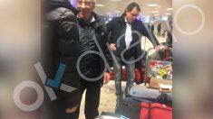 Artur Mas en el aeropuerto de Ginebra.