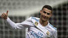 Cristiano celebra un gol ante el Borussia Dortmund. (AFP)