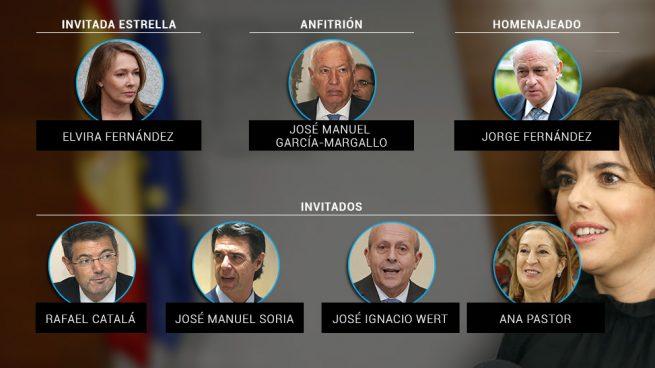 El antisorayista G-8 se reúne en casa de Margallo con una estrella invitada: la mujer de Rajoy