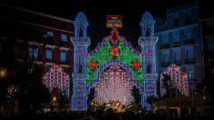 Encendido de luces en las calles de Valencia.
