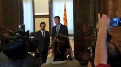 Roger Torrent, presidente del Parlament, y Xavier García Albiol, líder del PP catalán, en la Cámara autonómica catalana.