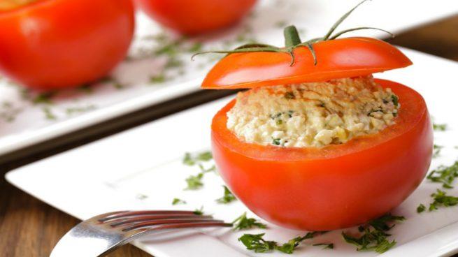 tomates rellenos de espinacas y queso