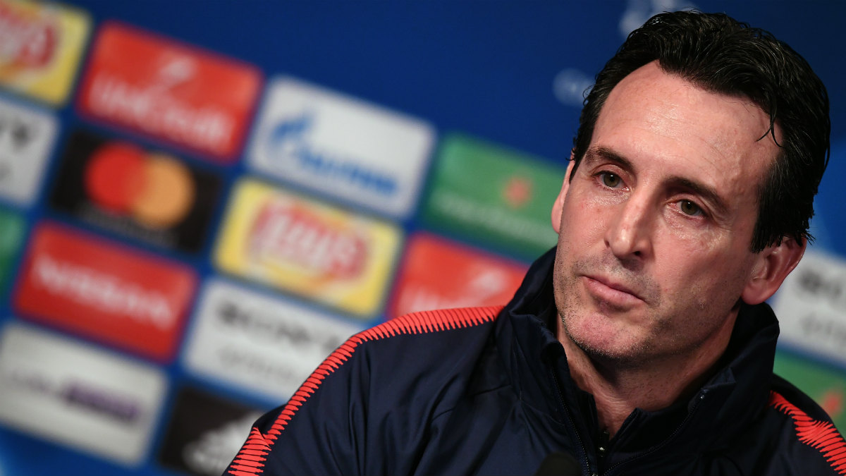 Unai Emery en rueda de prensa. (AFP)