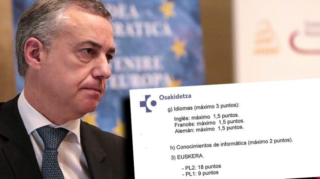Dictadura 'a la balear' en la Sanidad vasca: 18 puntos por el euskera y 10 por el doctorado 'cum laude'